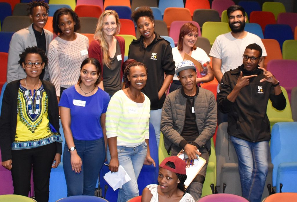 'Colourful Science' - the Cape Town Science Centre provided a stimulating venue for Jive to train SKA FameLab participants in science communication and media skills.